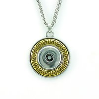 Wholesale Wholesale Gold Coin Buttons - Brand New Pendants Necklaces Gold Plated Round 18mm Ginger Snap Buttons Interchangeable Statement Necklace For Men Jewelry