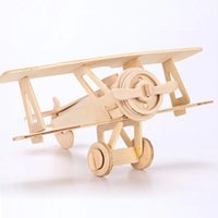 Wholesale Wood Model Kits For Adults - 3D Wooden Puzzle Jigsaw World War II Aircraft Model Toy DIY Kit for Children And Adults