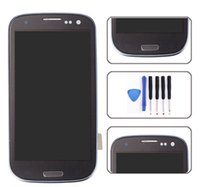 Wholesale Galaxy S3 Repair Kit - High Quality For Samsung Galaxy S3 LCD Digitizer Assembly With Frame Free DHL and Repair Tool Kit