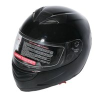 Full Face Atacado-DOT Gloss Black Street bicicleta do esporte capacete da motocicleta 2 VISEIRA ML XL