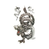 packaging design marketing - Hot Marketing Cool Men cm Creative Design Black Dragon Waterproof Sweat Temporary Tattoo Stickers with package tanwc