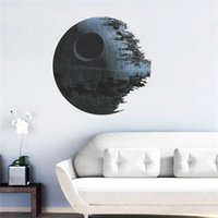 Wholesale Star Designs - Star Wars 3d Creative Wall Stickers Death Star Movie Poster Bedroom Living Room TV Sofa DIY Home Decor Wallpaper Kids room wallpaper LA131-1