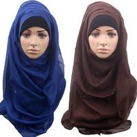 Wholesale Purple Glitter Scarf - 2015 new women fashion lastest muslim colorful scarf muslim hijab, islamic hijab 14 color choose 2pcs lot #3995