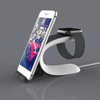 Wholesale Cheap Mobile Watch Phones - Mobile Phone and Watch Double USE Desk Stand Holder Phone Charger Dock Display Stand Holder for General Smart Phones Cheap Cost