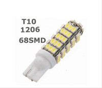 50PCS T10 68SMD 1206LED 68 SMD LED W5W 194 927 168 Wedge Side luce di posizione luci targa lampadina licenza DC12V all'ingrosso