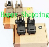 Wholesale Tactical Back up Sight Gen Front And Rear Folding Sights BK DE With Retail box