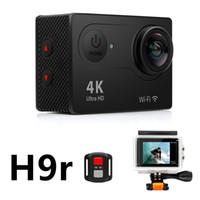 Wholesale professional camera cheap online - Cheap Original EKEN H9r K Action Camera Wifi inch LCD WIFI HDMI M Waterproof Shockproff MP K P fps Sports DV Helmet Cam