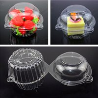 20 Pcs Plastique Transparent Individuel Cupcake Muffin Case Pods Domes Cup Cake Boxes