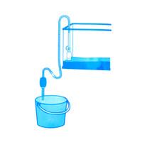 manuel vakum pompası toptan satış-2014 Yeni Akvaryum Dekorasyon Balık Tankı Sifon Çakıl Manuel Temizleyici Pompa Güvenli Vakum Su Değişimi Akvaryum Hava Pompaları, dandys