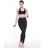 Wholesale quick dry yoga pants for sale - High Waist Yoga Ankle Length Pants lulu Slim Sport Leggings Spandex Women Running Tights Quick Dry Training Trousers Top quality