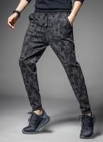 Wholesale harem trousers free pattern for sale – dress Pencil Pants Camouflage Pant Men Korean Harem Trouser Bottoms Sport Style Camo Pattern Full Length Slim Fit Man Long Pants M XL Free Ship