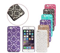 Wholesale Iphone Case Hybrid Vintage - Luxury Flower Pattern case Transparent Hybrid Damask Vintage Phone Case Back Cover for iphone 5 6 6s 6S Plus