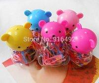 Wholesale Headbands Bear - 12 Packs Lot Kids Baby Hair Jewelry Toy Bear Bottle Headbands Children Hair Accessories Ornaments Hair Wear Hair Accessory