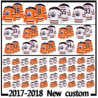 Wholesale ryan nugent hopkins - 2017-2018 New Custom 8 Ty Rattie 18 Ryan Strome Jersey 55 Mark Letestu 93 Ryan Nugent-Hopkins jerseys Edmonton OilersPlayers