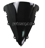 Wholesale Yamaha R6 Windshield Motorcycle - Motorcycle Double Bubble Windshield WindScreen For 2003-2005 Yamaha YZF 600 R6 2004 YZF R6 03 05 04 Black