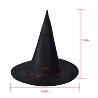 2018 Black Oxford Burst Seal Hood Chapéu mágico de Harry Potter Chapéu da bruxa do Dia das Bruxas All Black Wizards Chapéus 23g
