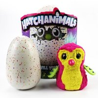 Wholesale Retail Gift Packaging - HOT Hallowee Christmas Gift Hatchimals Hatching Eggs Interactive Toys Spin Plush Animal for Baby Learning kids With Retail Package
