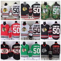 auténticas camisetas de hockey de china al por mayor-2015 hombres Chicago Blackhawks Hockey Jerseys # 50 Corey Crawford Jersey Inicio Black Winter Classic Authentic Stitched Jersey China