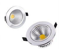 Wholesale Study Free Shipping - X20 DHL Free shipping COB Led Downlights AC85-265V 9W 12W 15W 18W 21W Dimmable Non-Dimmable Warm Cool White Down Lights With Power Drivers