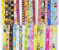 Wholesale Mixed Popular cartoon Mickey Minnie Princess Lanyard with Lobster Clasp Fit Key ID Mobile Cell Phone Keychain sh3003