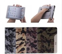 Wholesale Wholesale Fashion Belts China - Ultrathin Camouflage Style Leather Case Fashion Cool Case for ipad air ipad 2 3 4 for ipad mini With Belt Card Holder