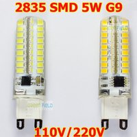 Wholesale Low Price Led Candles - 2016 Low Price High Quality G9 LED 5W Dimmable Non Dimmable Bulb 100V 110V 120V G9 Base Candle Mini Corn Droplight Replace 40W Halogen