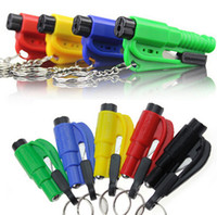 Wholesale rescue strap - 20pcs Car Emergency Rescue Tool Window Glass Breaker Seat Belt Cutter Car Safety Car Knife Tool Glass Breaker Life Hammer YH009