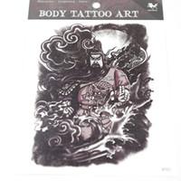 Wholesale Big Foot Art - Temporary Tattoos Tattoo For Body Art 10pcs lot Fake Big Tattoo Waterproof Arm Chest Tattoos 5.6*6.9 Inch RT