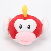 "Wholesale fishing games toy - cartoon game Super Mario Bros Plush Doll Stuffed mario plush Toys Flying Fish 6"" Soft Toy Stuffed Animal Figure Doll"