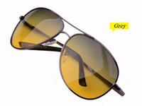 Wholesale Day Night Vision Polarized - 2015 Vintage Classic Anti-Glare Night Vision Glasses Goggles Day and Night Polarized Safe Driving Sunglasses Eyewear TAC Polarized lenses