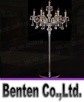 candeeiro e14 venda por atacado-llfa787 7 cabeças luz de cristal lâmpada de assoalho de cristal de luxo quarto vela lâmpada de assoalho de cristal lâmpadas de assoalho de pé de luxo Vintage