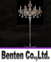 Wholesale Vintage Lamp Stand - llfa787 7 heads crystal light Luxury crystal floor lamp bedroom candle floor lamp Crystal Vintage luxury standing floor lamps