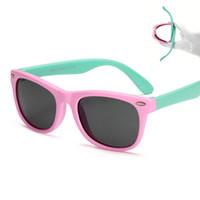 Wholesale Red Frame Safety Glasses - Flexible Kids Sunglasses Polarized Sunglasses Child Baby Safety Coating Sun Glasses UV400 Eyewear Shades Infant oculos de sol