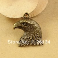 Wholesale Eagle Head Charms - A2950 Wholesale Vintage Charms Zinc Alloy Eagle Head Fit Jewelry Making