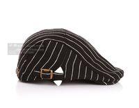 Wholesale Duckbill Caps - 2015 Hot Sale New Punk Style Children Ear Muff Striped Satin Weave Hat For Kid Elegant Cat Pattern Two Botton Duckbill Cap For Children CR95