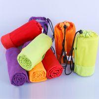 Wholesale Microfiber Towels Bath Size - Sports towel baby Towel With Bag 70x130cm Larger Size Microfiber toalha de esportes Swimming Travel Gym Towel