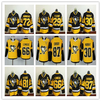 Wholesale Cheap Penguin Jerseys - 2017 Stanley Cup Champions Pittsburgh Penguins Hockey Jerseys 87 Sidney Crosby 81 Phil Kessel 66 Mario Lemieux 72 Patric Hornqvist Cheap