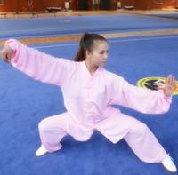 2d0f566808596 Tai chi vêtements kung fu vêtements printemps et l automne uniforme coton  et soie hommes et femmes