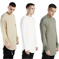 Wholesale Gray Ninja - wholesalemens t shirts fashion 2016 men t shirt long sleeve mens hip hop brand clothing kanye tshirt homme swag Extended Ninja sleeve