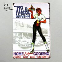 Wholesale Drive Signs - DL-Mels Drive-in Car Hop,Tin Sign, Hot Rod, Street Rod, Man Cave, Home Decor,coffee wall art