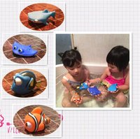 Wholesale floating fishes - Small Fish Drink Float Water Swimming Child's Play Bath Swim Toy Swimming Kids Toys for Girls Children Dabbling Bath Toys CCA7861 500pcs
