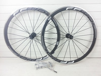 Wholesale Carbon Alloy Road Wheels 38mm - 23mm wide 700c carbon wheels road bike wheels with alloy brake surface 38mm clincher