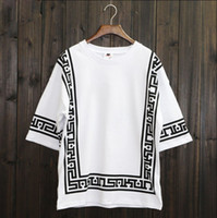 Wholesale Ktz Bandana T Shirt - KTZ Half Sleeve Baseball Hip Hop T-shirt Religion Geometric Bandana Shirt Vintage Rock Tee Shirts Loose Plus Size Streetwear XXL