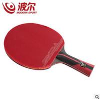 ingrosso best table tennis rubbers-La racchetta di ping-pong della migliore qualità del carbonio del carbonio all'ingrosso con la pagaia di pingpong di gomma manico corto di tennis della tavola di rackt ha maneggiato la lunga offensiva