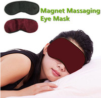 Wholesale massage tourmaline - New Professional Magnet Tourmaline Massaging Eye Mask Eyepatch Improve Sleeping Eliminate Dark Circles Alleviate Eye Fatigue Health 10pcs