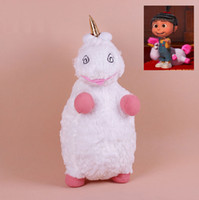 Wholesale Despicable Fluffy Unicorn Plush - 22 inch Big Size Fluffy Unicorn Plush Toys Despicable Me Pillow Doll Large White Pink Fluffy Stuffed Animals Children Christmas Gifts