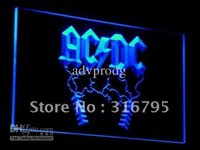 Wholesale Rock Roll Signed - c004-b ACDC AC DC Rock n Roll Bar Neon Light Signs
