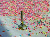 Wholesale confetti cannons wholesale - Free shipping 2pcs lot New 150W Confetti Machine Wedding Paper Machine for stage Wedding colorful confetti cannon machine