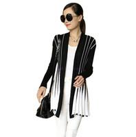 Wholesale Sweater Woman V Neck Striped - Hot Women Cardigan Knitted Sweaters 2016 Women Fashion Plus Size Sweater Long Sleeve Ladies Casual Cardigan Feminino Outwear