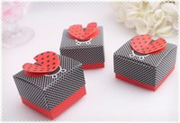 Wholesale Recycled Corrugated - HOT selling wedding Ladybug shape candy box,Wedding Boxes Gift box folding Candy box DIY chocolate boxes favor holders